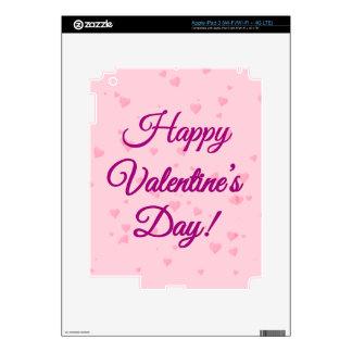 Happy Valentine's Day   Pink and Purple Hearts iPad 3 Skins