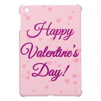 Happy Valentine's Day   Pink and Purple Hearts iPad Mini Covers