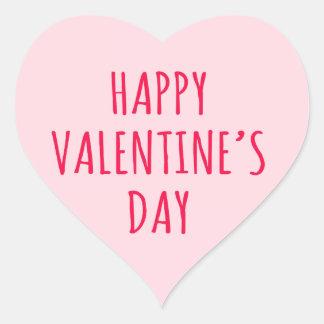 happy valentines day pink heart heart sticker - Valentines Day Stickers