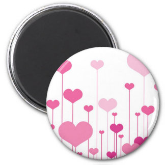 Happy Valentine's Day pink hearts Magnet