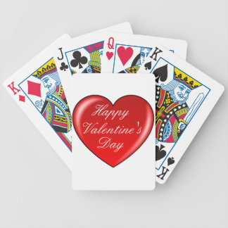 Happy Valentines Day playing cards