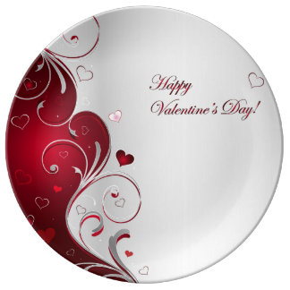 Happy Valentine's Day Porcelain Plate