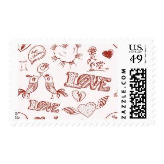 Happy Valentine's Day Postage Stamp