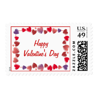 Happy Valentine's Day Postage Stamps