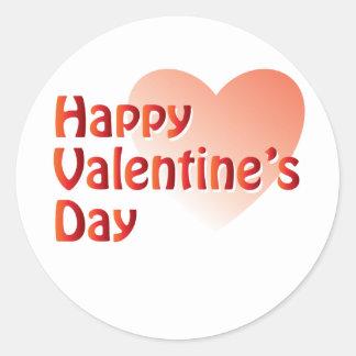Happy Valentine's Day Products Classic Round Sticker