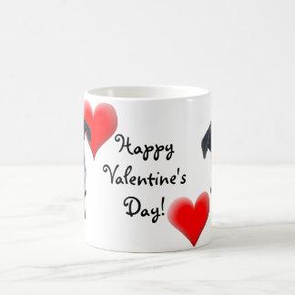 Happy Valentine's Day Pug Greeting Card Coffee Mug