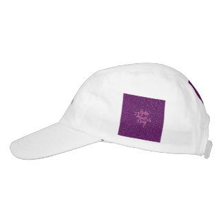 happy Valentines Day, purple Headsweats Hat