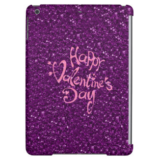 happy Valentines Day, purple iPad Air Cases