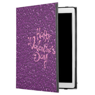 happy Valentines Day, purple iPad Pro Case