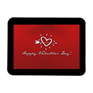 Happy Valentines Day Rectangular Photo Magnet