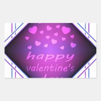 Happy valentines day rectangular sticker