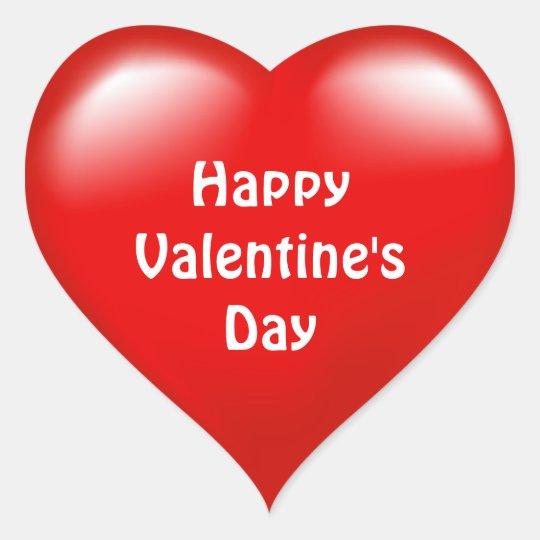 Happy Valentine's Day Red Heart  Love  Sticker