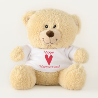 Happy Valentineu0026#39;s Day! Red Heart Teddy Bear