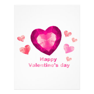 Happy Valentine's day red hearts Letterhead