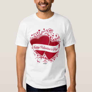 Happy Valentine's Day! Red Hearts T Shirt