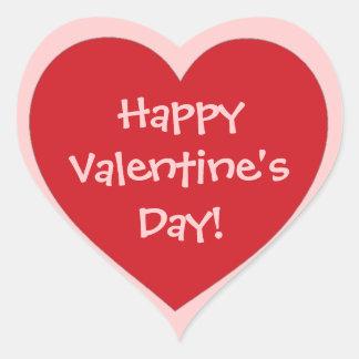Happy Valentine's Day red pink heart stickers