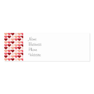 Happy Valentine's Day Red Pink Hearts Pattern Business Card