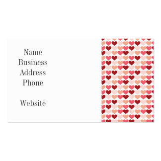 Happy Valentine's Day Red Pink Hearts Pattern Business Cards