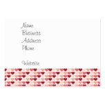 Happy Valentine's Day Red Pink Hearts Pattern Large Business Cards (Pack Of 100)