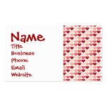 Happy Valentine's Day Red Pink Hearts Pattern Double-Sided Standard Business Cards (Pack Of 100)