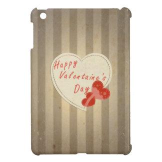 Happy Valentine's Day Retro Hearts. Sepia Vintage Case For The iPad Mini