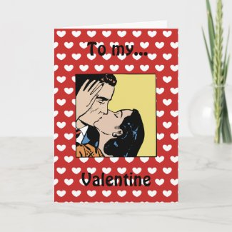 Happy Valentine's Day Retro Lover's Card