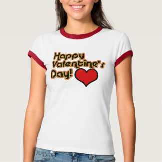 Happy Valentine's Day Retro Style T-Shirt shirt