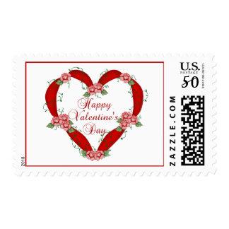 Happy Valentine's Day Ribbon Heart – Postage