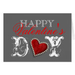 """Happy Valentine's day"" romantic heart love Greeting Card"