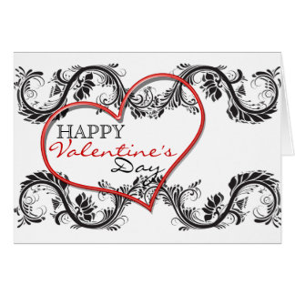 """Happy Valentine's day"" romantic heart love Card"