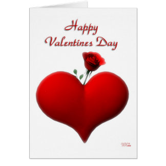 Happy Valentines Day - rose (blank) Greeting Card