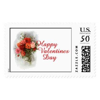 """Happy Valentines Day"" Roses Postage"