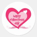 Happy Valentines Day Round Sticker