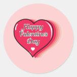 Happy Valentine's Day Round Stickers