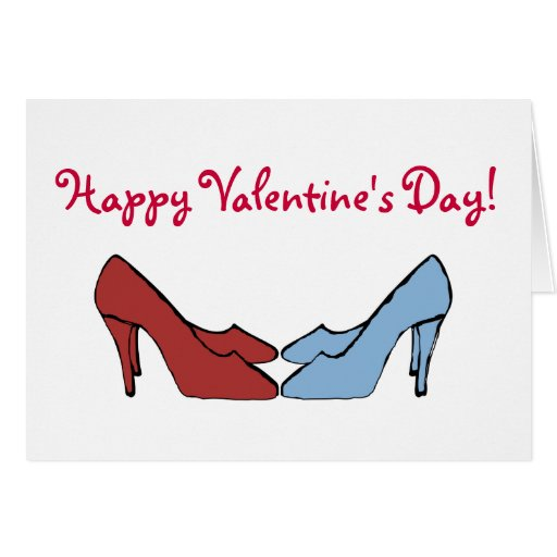 Happy Valentine's Day Shoes Card