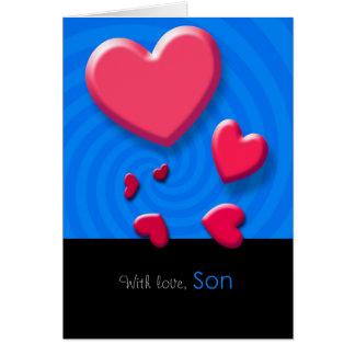 Happy Valentineu0026#39;s Day Son Greeting Card