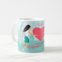 Happy Valentine's Day Spring Garden Coffee Mug
