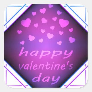 Happy valentines day square sticker