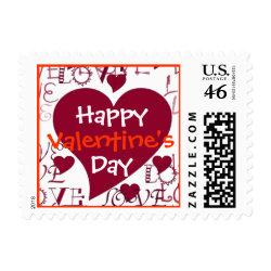 Happy Valentine's Day Stamp stamp
