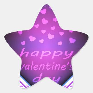 Happy valentines day star sticker