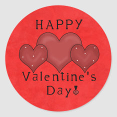 Happy Valentines Day sticker at Zazzle
