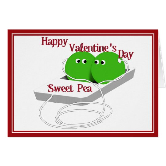 Happy Valentine's Day, Sweet Pea Card
