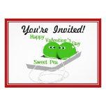 Happy Valentine's Day,  Sweet Pea Personalized Invites