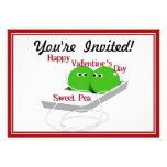 Happy Valentine's Day,  Sweet Pea Personalized Invitation
