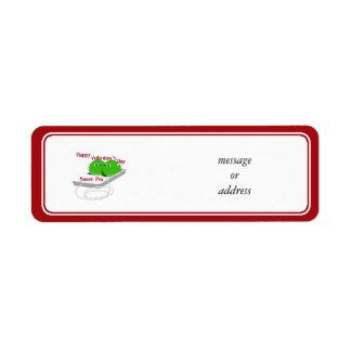 Happy Valentine's Day,  Sweet Pea Return Address Label