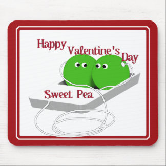 Happy Valentine's Day, Sweet Pea Mouse Pad