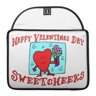 Happy Valentines Day Sweetcheeks Sleeve For MacBooks