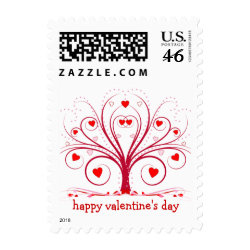 Happy Valentine's Day - Sweetheart Tree stamp