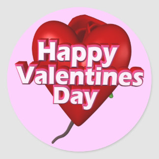 Happy Valentine's Day T-shirts and Gifts Round Stickers