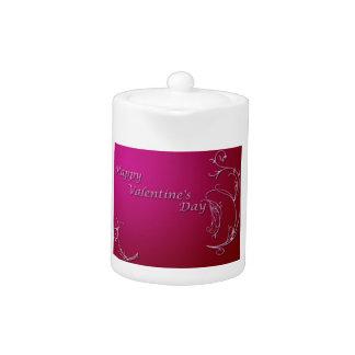 Happy Valentine's Day Teapot